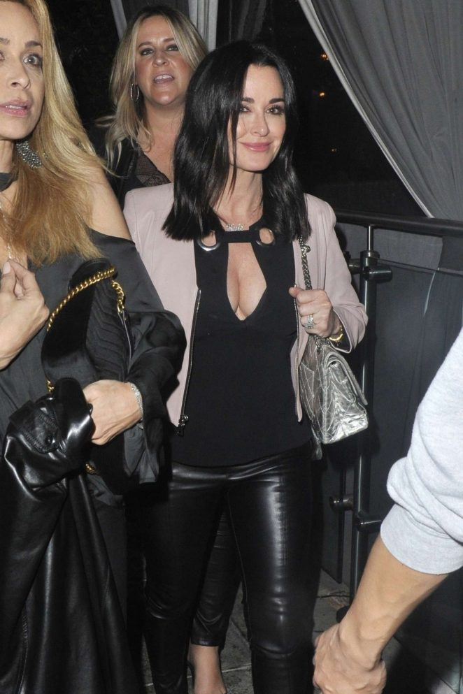 Kyle Richards at Pump for a birthday even in West Hollywood