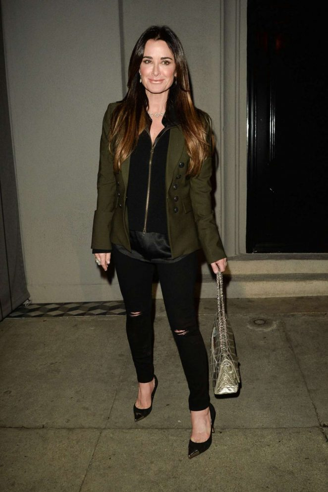 Kyle Richards in Black Jeans Night Out in West Hollywood