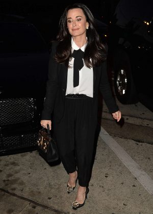 Kyle Richards - Leaves Craig's Restaurant in West Hollywood