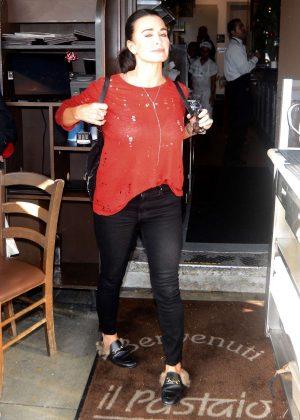 Kyle Richards - Leaving Restaurant in Los Angeles