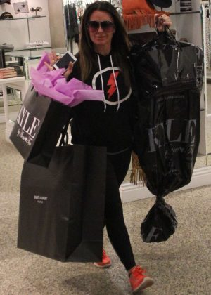 Kyle Richards Shopping in Beverly Hills