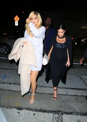 Kylie Jenner and Kim Kardashians at Craigs -10