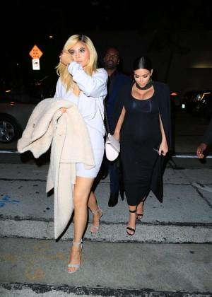 Kylie Jenner and Kim Kardashians at Craigs -14