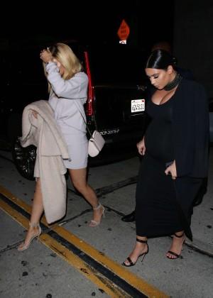 Kylie Jenner and Kim Kardashians at Craigs -19
