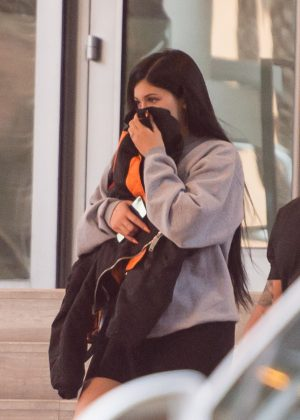 Kylie Jenner and Travis Scott - Leaving Miami Beach Hotel