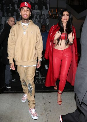 Kylie Jenner and Tyga at Catch Restaurant in West Hollywood