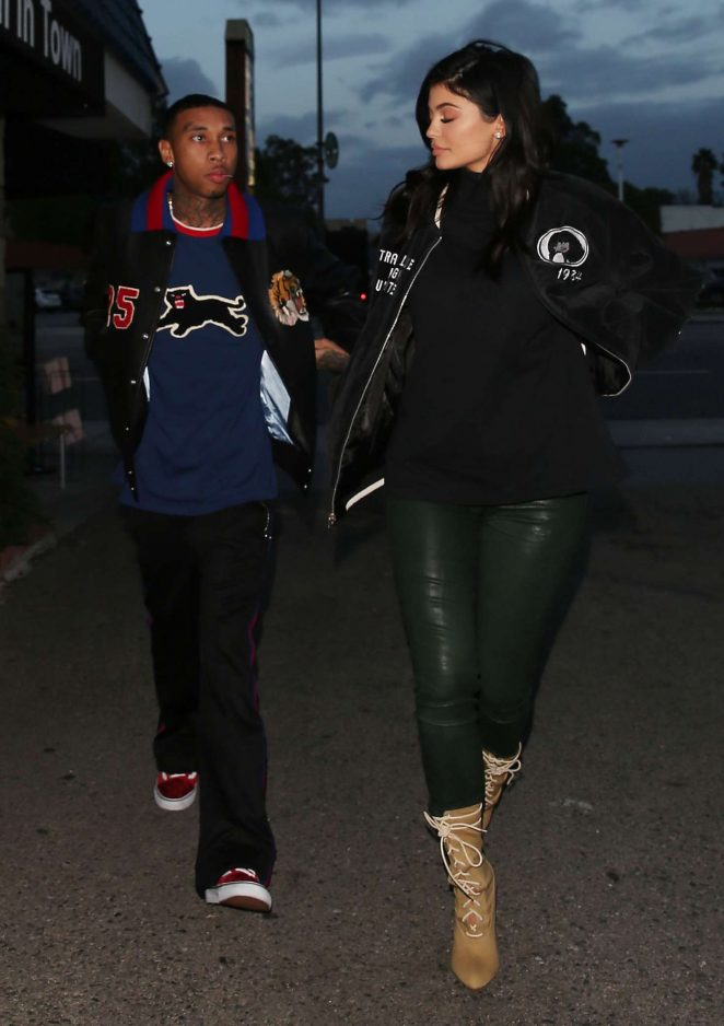 Kylie Jenner and Tyga Leave Kabuki in Los Angeles
