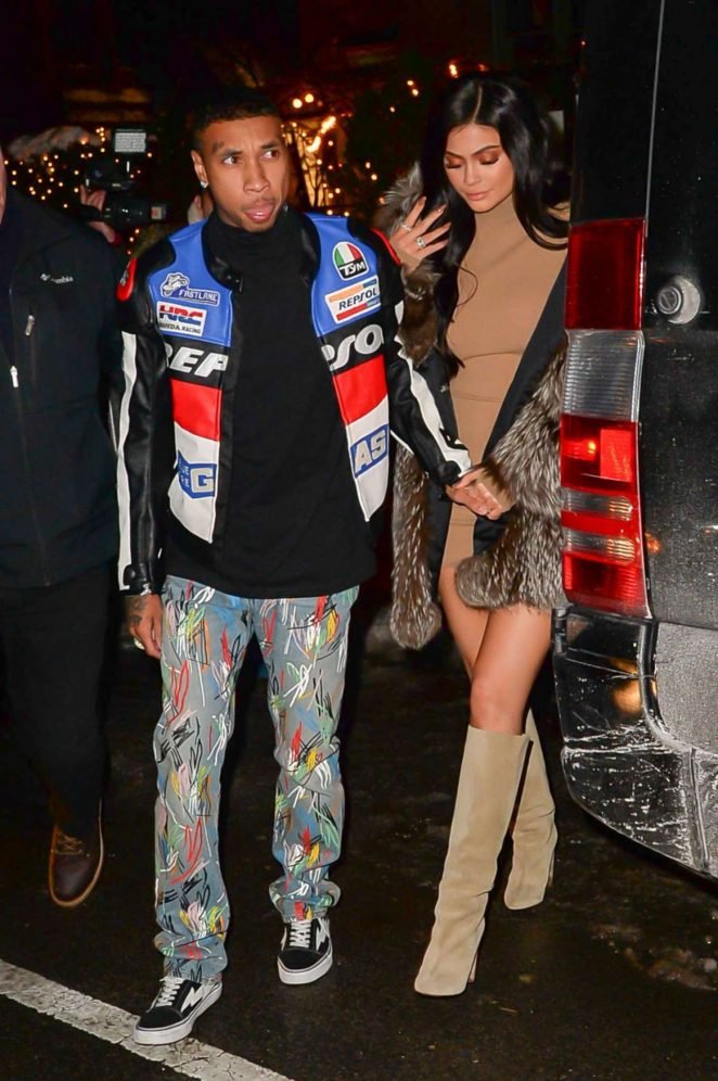 Kylie Jenner and Tyga out for dinner in New York