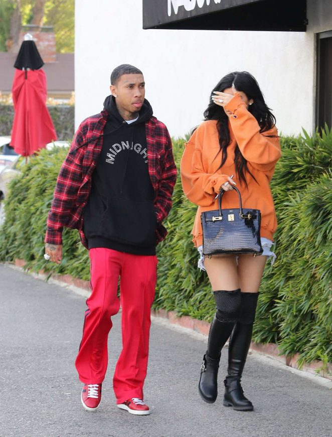 Kylie Jenner and Tyga out in Calabasas