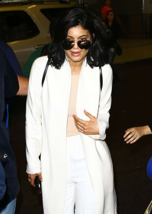 Kylie Jenner - Arrives at Miami International Airport