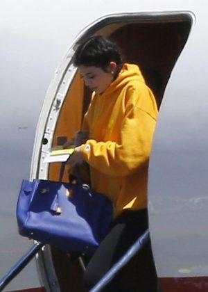 Kylie Jenner arrives at Van Nuys