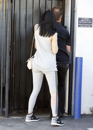 Kylie Jenner Botty in Tights -04