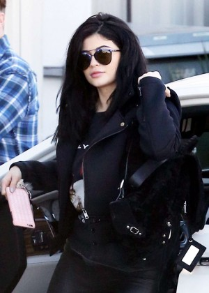 Kylie Jenner Arriving at the studio in Hollywood