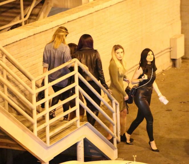 Bryson Tiller And Kylie: Kylie Jenner In Leather At Bryson Tiller Concert -10