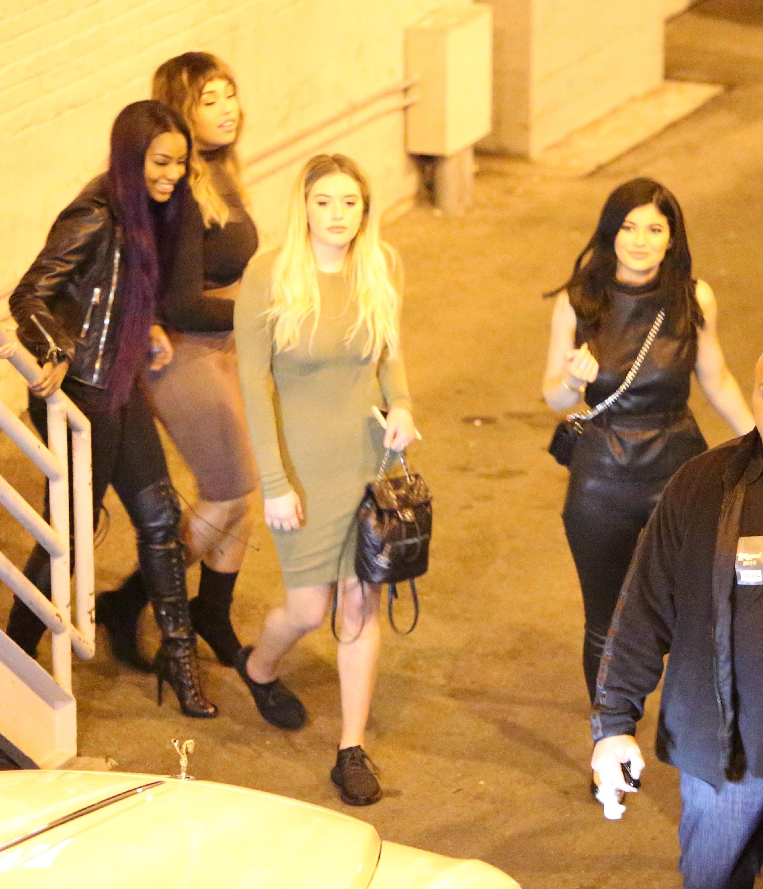 Bryson Tiller And Kylie: Kylie Jenner In Leather At Bryson Tiller Concert -15
