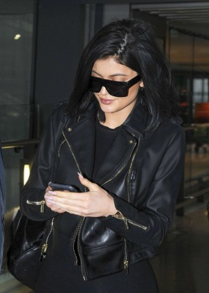 Kylie Jenner at Heathrow Airport in London