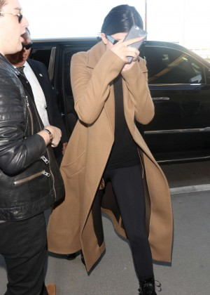 Kylie Jenner at LAX airport in LA