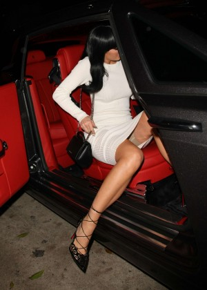 Kylie Jenner in White Tight Dress -02