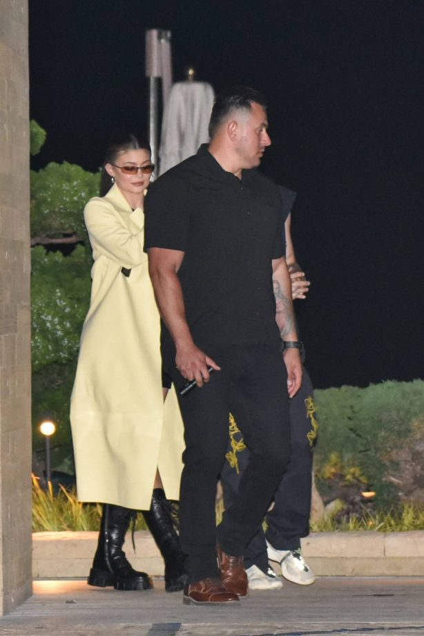 Kylie Jenner at Nobu for dinner in Malibu