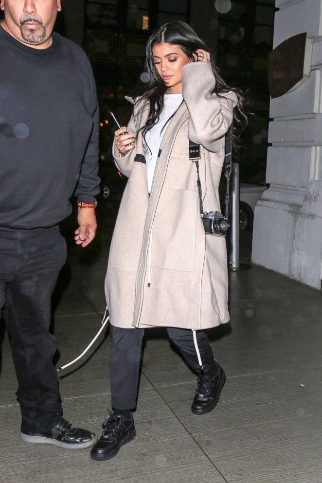 Kylie Jenner at Nobu in New York -01