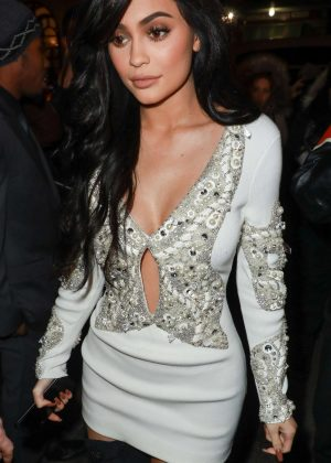 Kylie Jenner at Philip Plein fashion show in New York