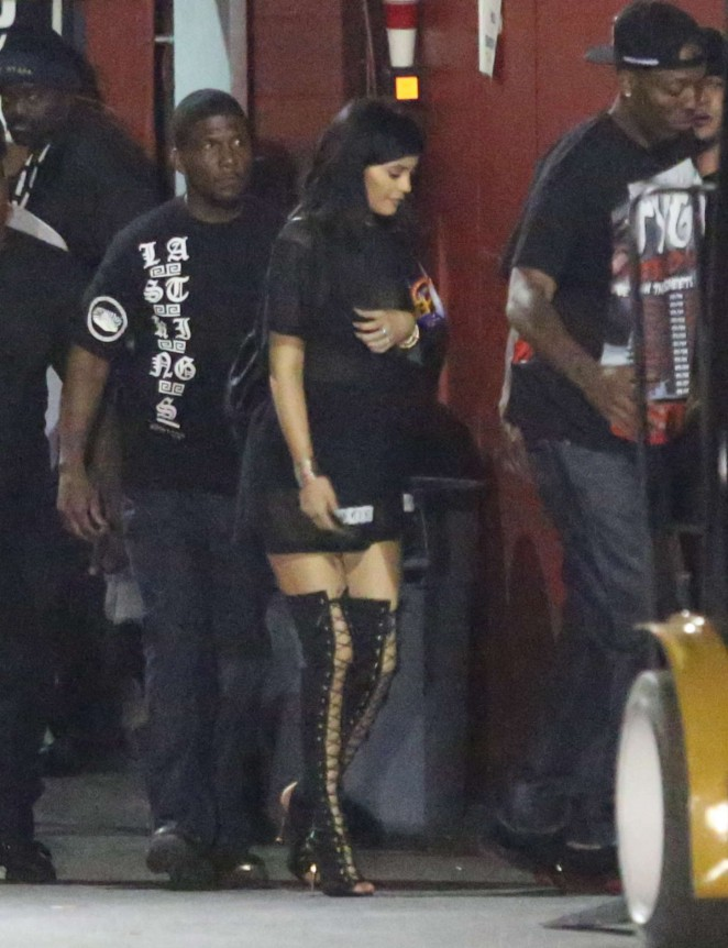 Kylie Jenner at The Forum in Inglewood