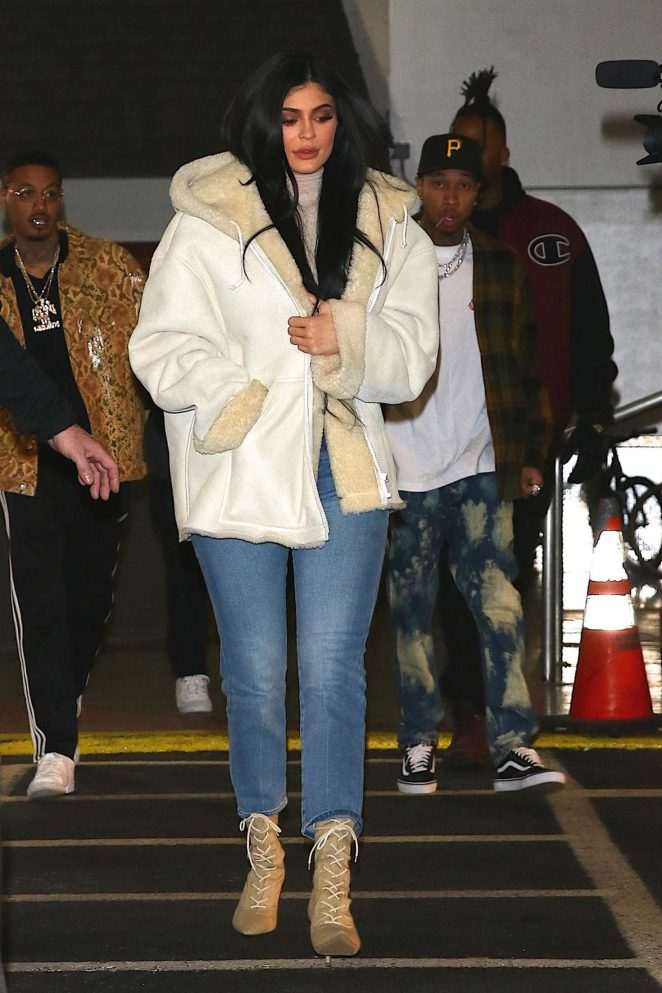 Kylie Jenner at Yeezy show 2017 in New York