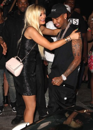 Kylie Jenner - Brand New Ferrari From Tyga at her 18th Birthday in West Hollywood