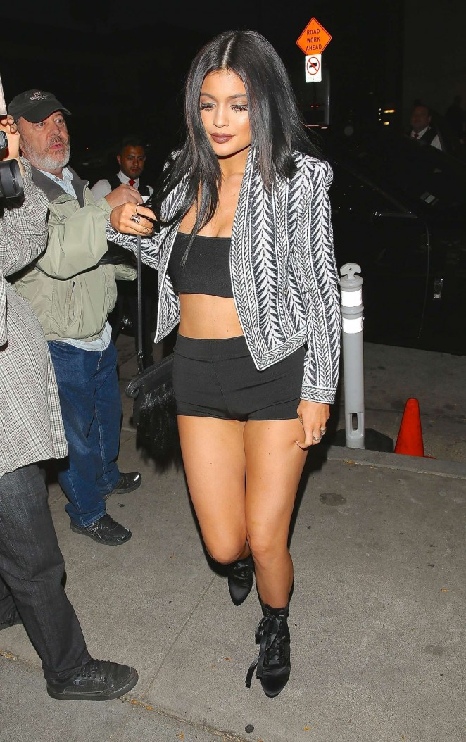 Kylie Jenner in Tank Top and Short Shorts -17