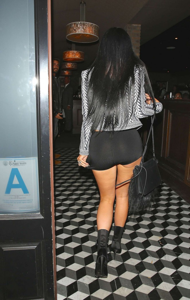 Kylie Jenner in Tank Top and Short Shorts -19