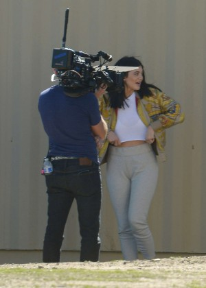 Kylie Jenner Filming in Los Angeles -01