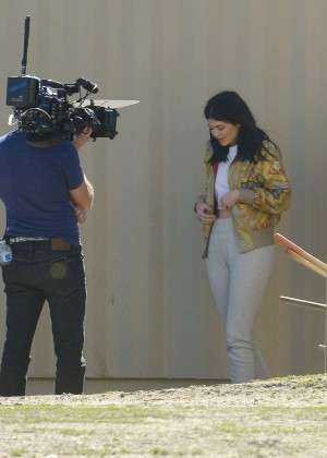 Kylie Jenner Filming in Los Angeles -07