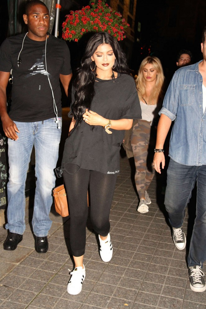 Kylie Jenner – Going to Harlow Restaurant in Montreal
