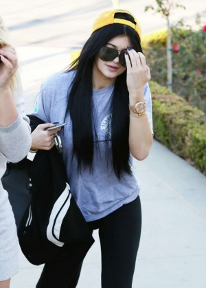 Kylie Jenner - Heading to Johnny Rockets With a Friend in Calabasas