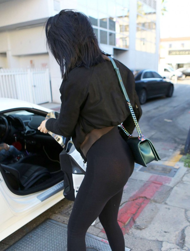 Kylie Jenner in Bodysuit at Cedars-Sinai Hospital in Los Angeles