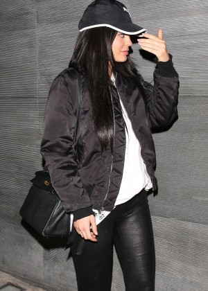 Kylie Jenner in Leather at Nobu in West Hollywood