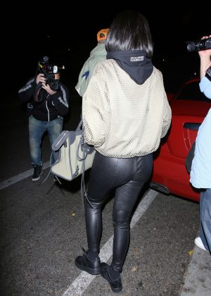 Kylie Jenner in Leather out in Beverly Hills