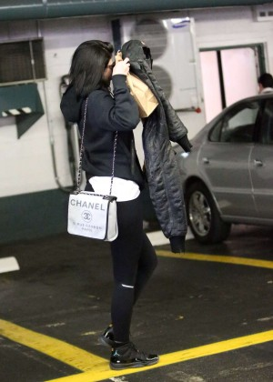 Kylie Jenner in Leggings at a medical building in Beverly Hills