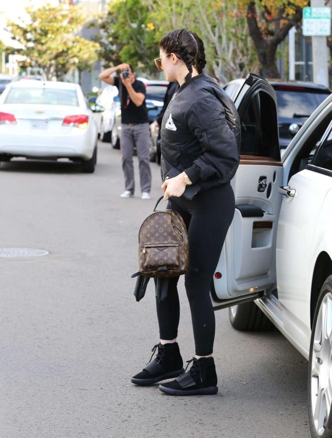 Kylie Jenner in Leggings on Melrose in West Hollywood