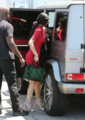 Kylie Jenner in Red Mini Dress -09