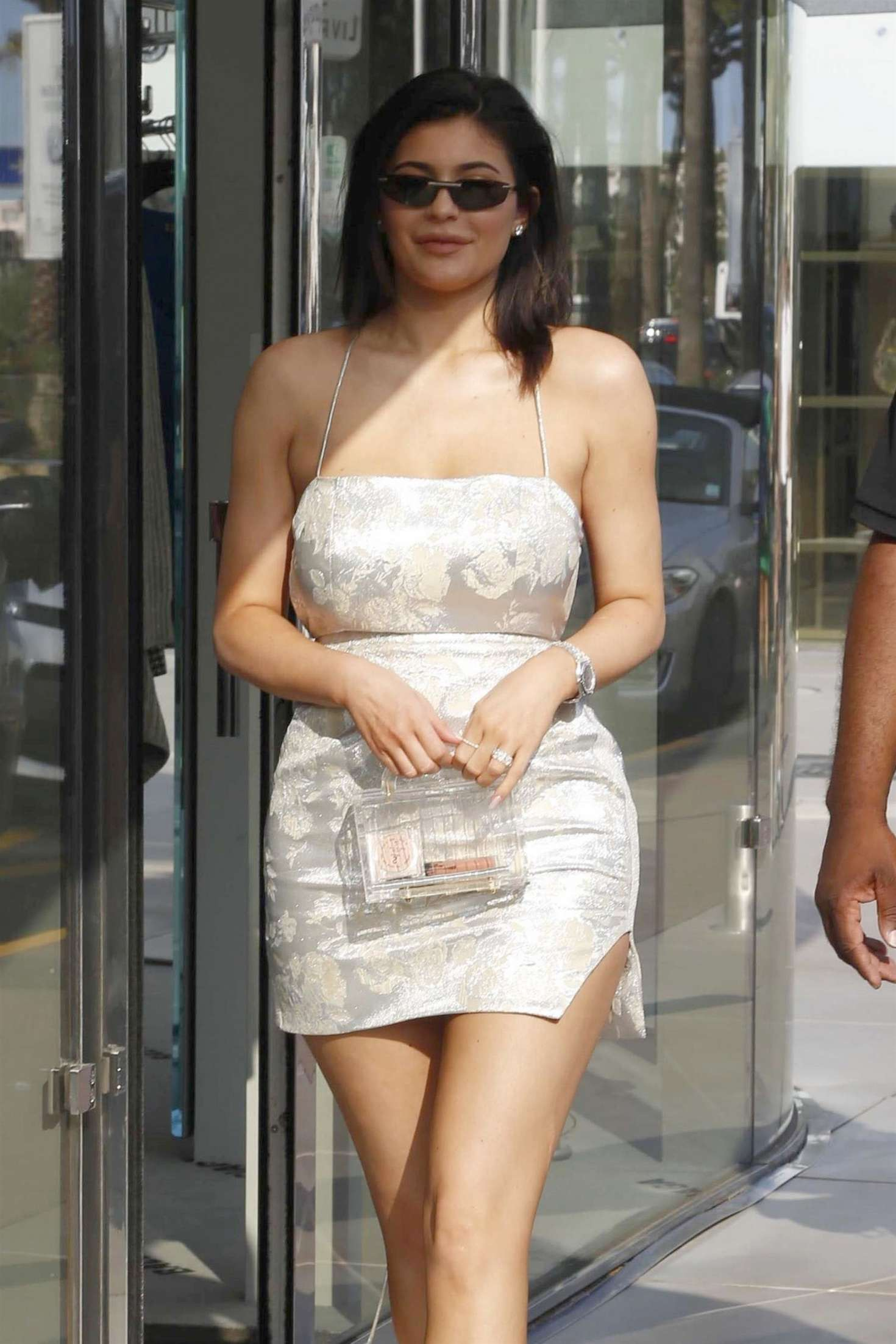 Kylie Jenner in Mini Dress – Out in Cannes