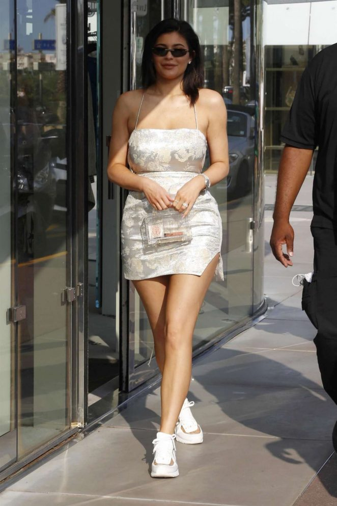 Kylie Jenner in Mini Dress -10
