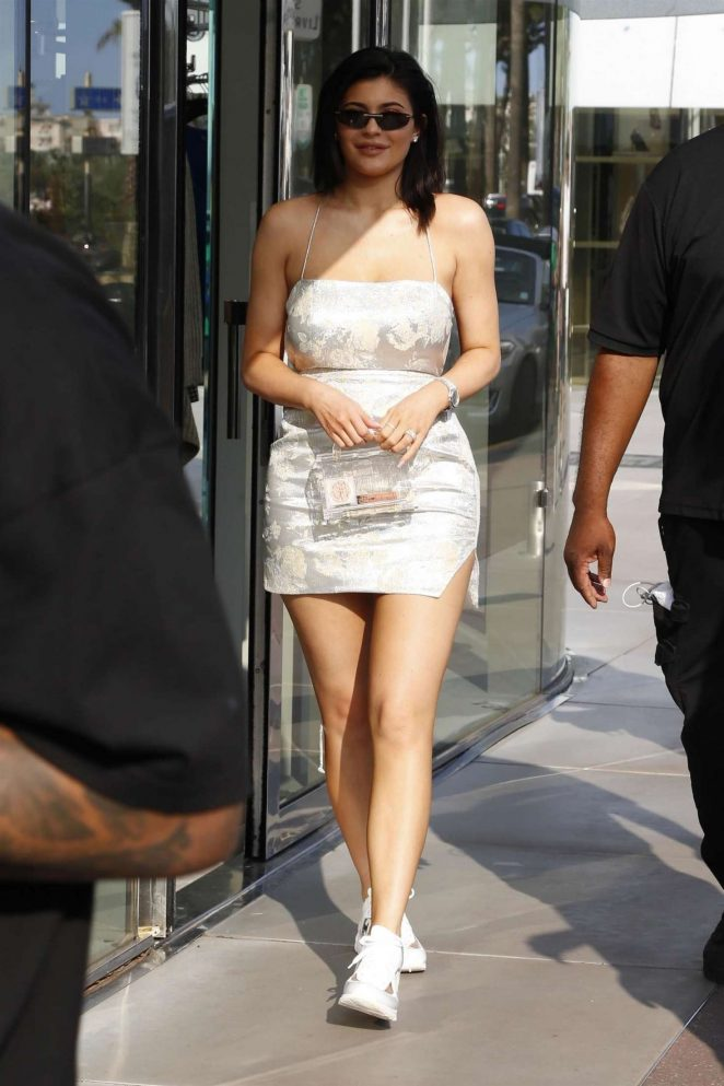 Kylie Jenner in Mini Dress -11