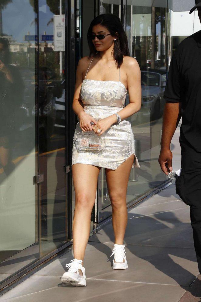 Kylie Jenner in Mini Dress -15