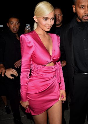 Kylie Jenner in Pink Dress - Celebrate her 21st Birthday in West Hollywood