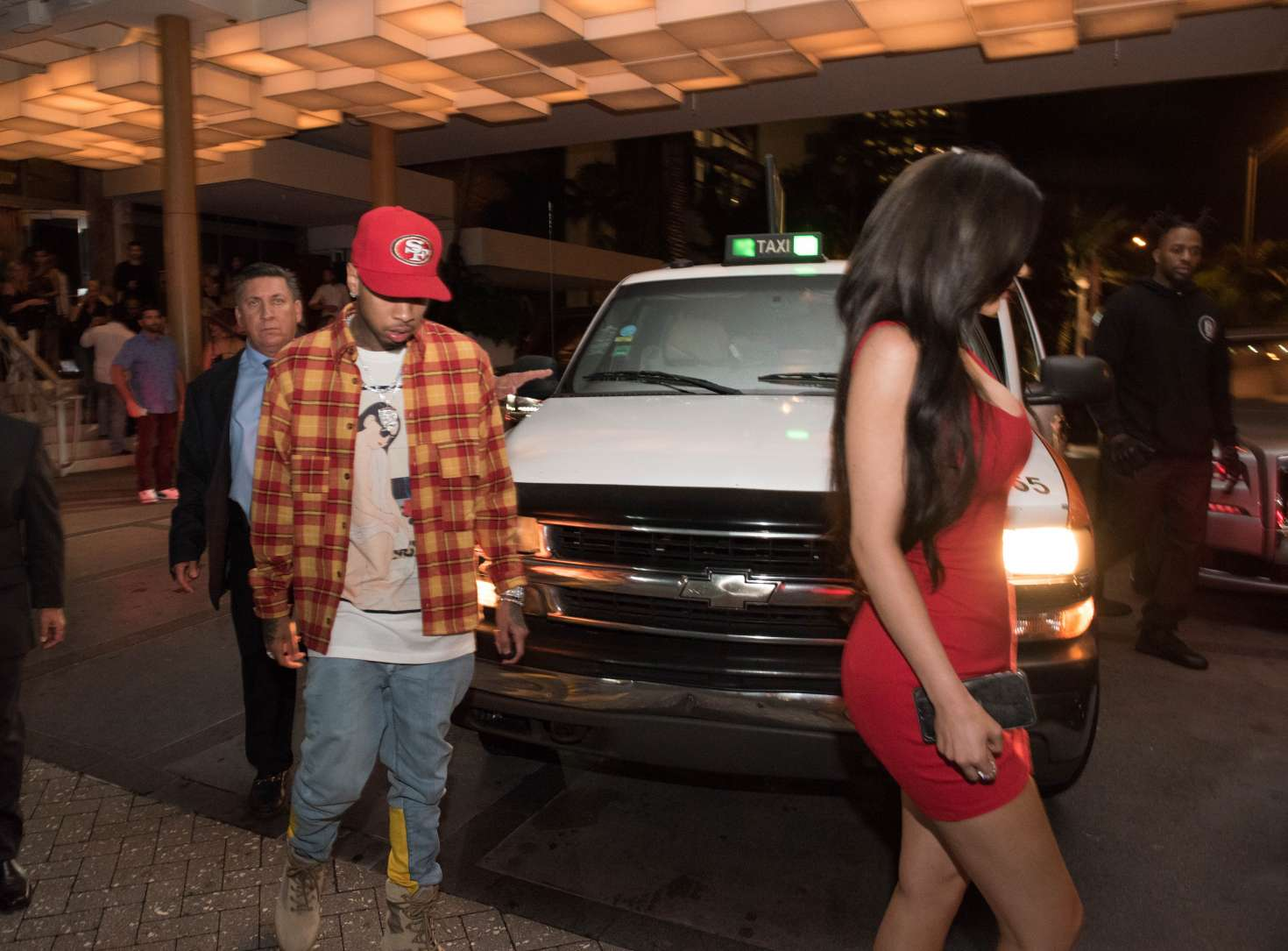 Kylie Jenner 2016 : Kylie Jenner in Red Mini Dress -01