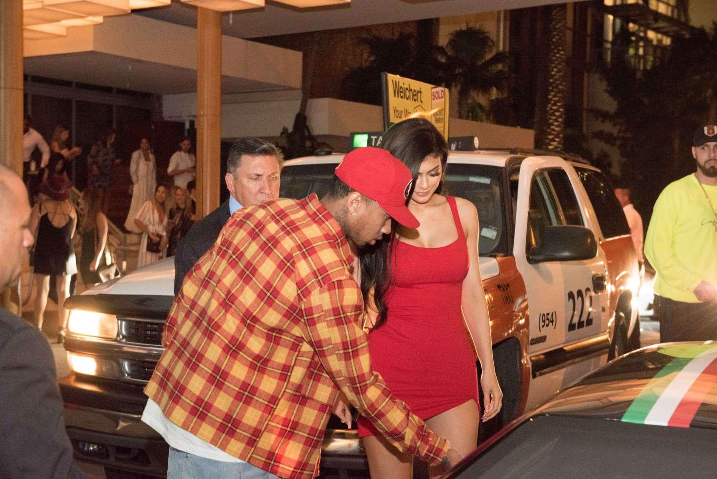 Kylie Jenner 2016 : Kylie Jenner in Red Mini Dress -02