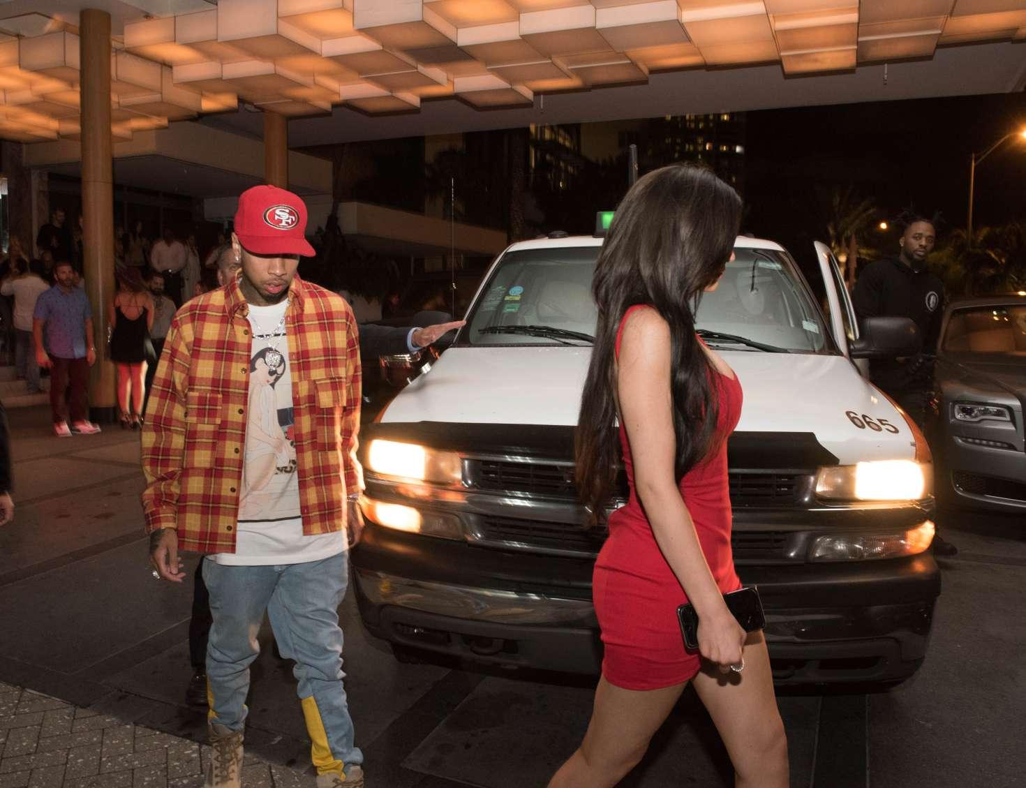Kylie Jenner 2016 : Kylie Jenner in Red Mini Dress -06