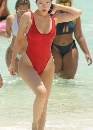 Kylie Jenner Bikini 2016: In Red Swimsuit in Turk and Caicos-14