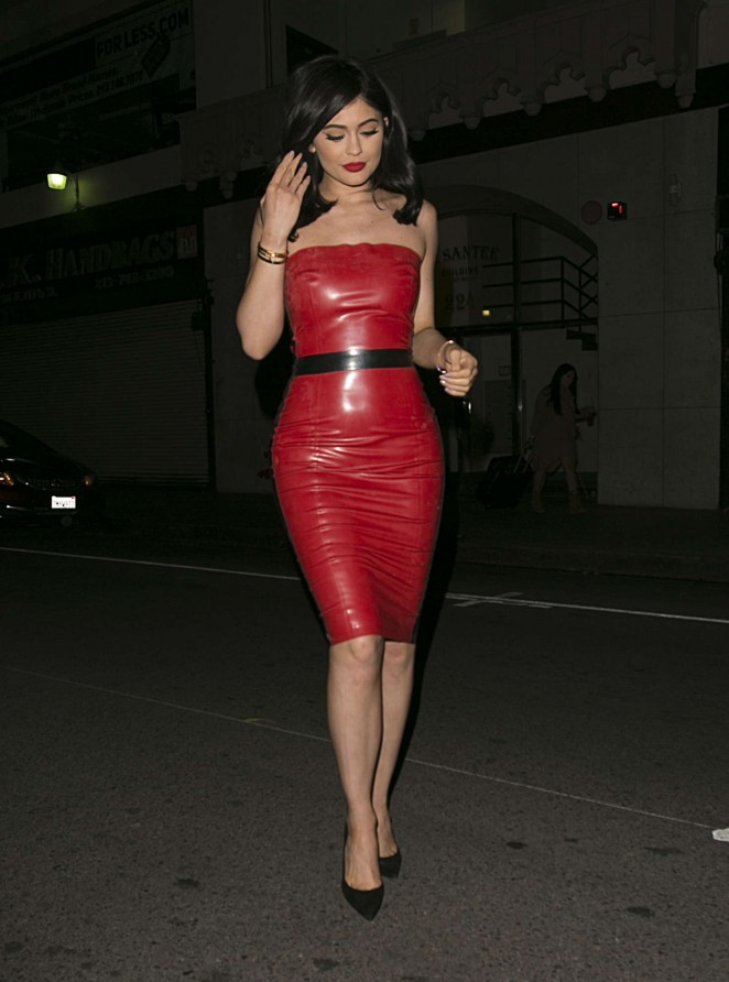 Kylie Jenner in Red Tight Dress -27 - GotCeleb